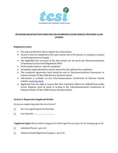 Telecommunications (Class Licence) Administrative Order 2011 (No. 01 of 2011)